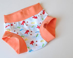 "Size 1 Children's Dundies - ""koi"" (can be used with our potty training insert)"