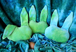 *SALE- Flopsy Bamboo Velour Bunny - hand dyed