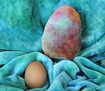 *SALE- ONE Easter Eggy! - hand dyed bamboo velour