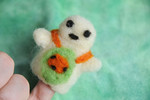 Wool Felt Finger Puppet - Schooltime Turtle ~by Shaylah