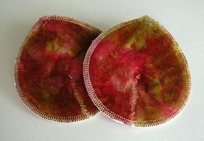 "ONE Pair of Super Soaker Nursing Pads - ""golden sunset"""
