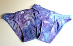 "TWO Women's size SMALL undies- hand dyed in ""topaz"""