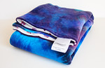 Hand Dyed Bamboo Velour (grotta azzurra colorway) & PRR Velour Blanket