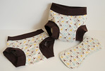 Set of TWO Children's Dundies Size 2/3 with Trainer Inserts