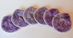 "Set of THREE  PAIR Super Soaker Nursing Pads- ticketybu's ""sugar plum"""