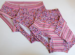 Set of THREE Size 10 Women's Dundies - cotton/lycra print