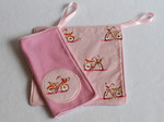 "Set of TWO Mini Poppetjie Blankies! ""Bikes"""