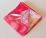 "<b>SALE </b>Poppetjie- pacifier blanket- ""girly"""