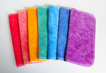 "A RAINBOW of 8x8 ""ultimate luxury"" Cloths- double sided bamboo velour!"
