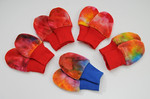 "lil'shrooms Newborn ""no-scratch"" Bamboo Velour Mitts- melted crayons"