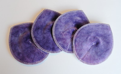 "TWO Pairs of Super Soaker Nursing Pads - ""orchid"""