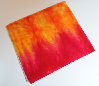 "Hand Dyed Bamboo Fabric Diaper Cut - 22x24inches - ""sunset"" - by Elisabeth Grace"