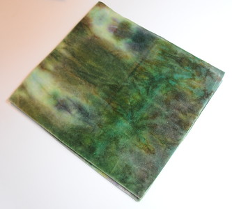 "Hand Dyed Bamboo Fabric Diaper Cut - 22x24inches - ""camo"" - by Elisabeth Grace"