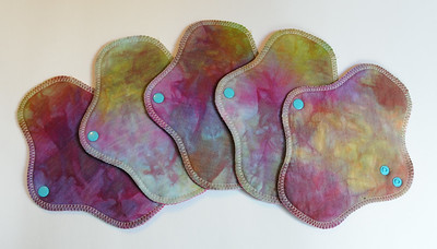 "FIVE PantyWraps -bamboo fleece - ""rainbow gem"""