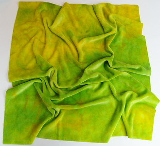 """Hand Dyed Bamboo Velour Diaper Cut - 22x24 - """"canary"""""""