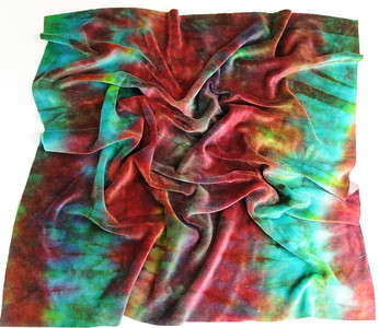 """Hand Dyed Bamboo Velour Diaper Cut - 22x24 - """"mystic"""""""