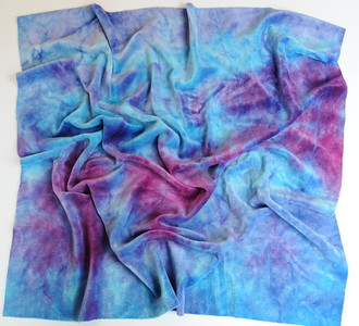 """Hand Dyed Bamboo Velour Diaper Cut - 22x24 - """"berries"""""""