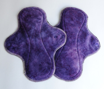 "TWO Heavy Flow Wrap Wing Pads - ""orchid"""