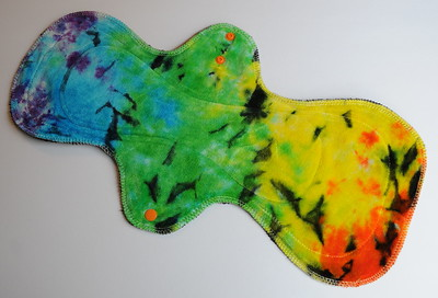 "ONE UltiMax Pad for Heavy Flow & Postpartum - ""dyed by Triplett Tie Dyes"""