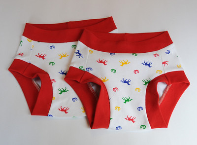 TWO Size 8/9 Children's Dundies - 'ponies'