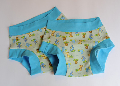 TWO Size 4 Children's Dundies - 'safari'