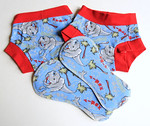 <b>*NEW*- Set of TWO PAIRS Children's Dundies Size 2/3 with TWO Snap-in Trainer Inserts included</b>
