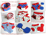 <b>**NEW*-Children's Dundies with Snap-in Trainer Inserts</b>