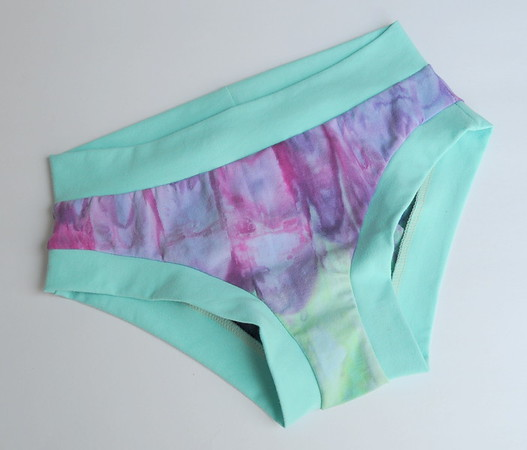 "Comfy Undies - women's size 0-2 - ""ice dyed"""