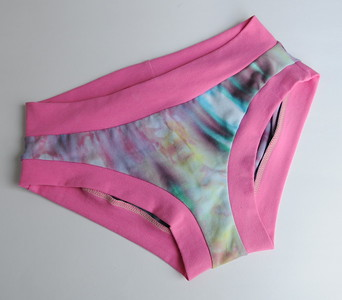 "Comfy Undies - women's size 4-6 - ""ice dyed"""