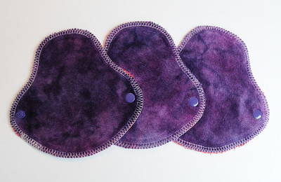 "THREE HalfWrap Liners - ""orchid"""